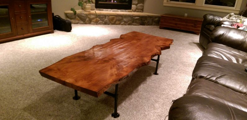 Turning a downed tree into a live-edge coffee table