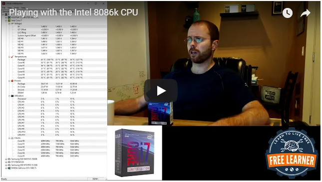 Latest Performance Desktop Build – Playing with the Intel 8086k CPU