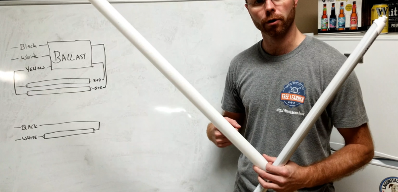 How to Replace your Fluorescent Tube Lights with LEDs